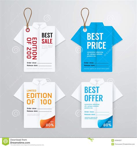 Price Card Template by Sale Banners Price Tag Paper Card Template Shirt Origami