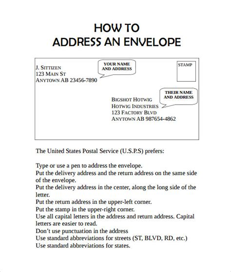 address template for envelopes sle small envelope 8 exle format