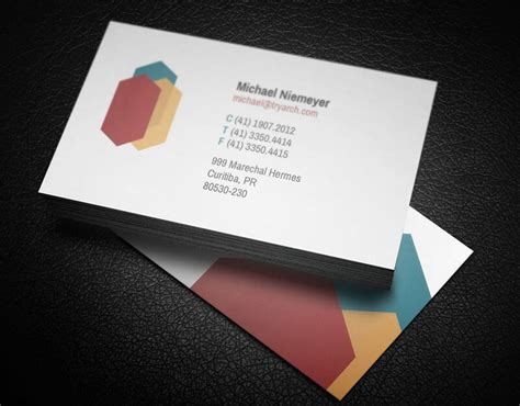 Architect Business Card | 18 architect business cards free psd design templates