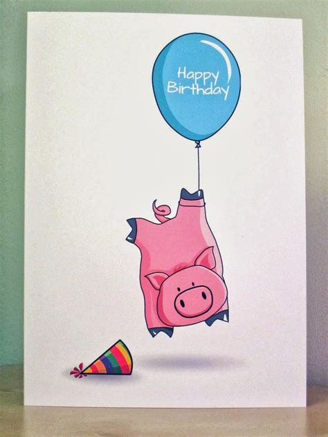 Pig Birthday Cards Printable 2877 best images about birthday stuff on