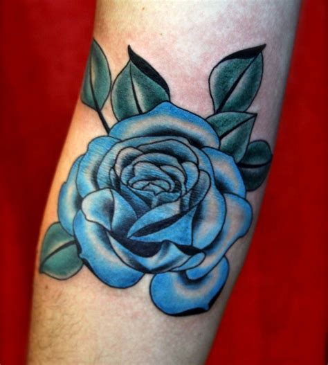 blue tattoo blue and purple roses www imgkid the image