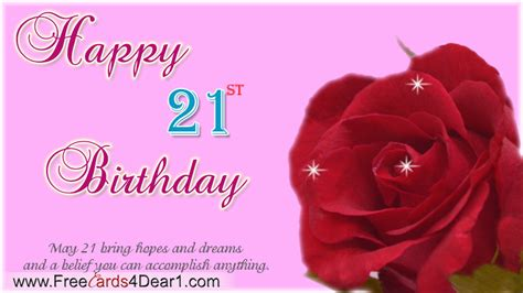 Happy Birthday 20th Wishes Happy 21st Birthday Quotes Quotesgram