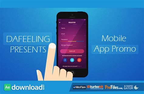 mobile app promo videohive free download free after