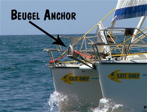 catamaran anchor bridle almost never fail catamaran anchoring system with a buegel