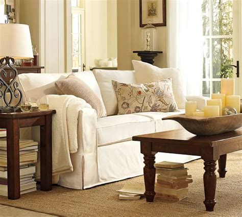 pottery barn comfort sofa pb comfort square arm slipcovered sleeper sofa pottery barn
