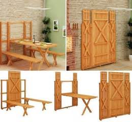 Fold Up Kitchen Table Diy Project Fold Up Picnic Table Home Design Garden