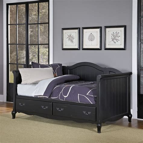 black day bed the french countryside rubbed black daybed homestyles