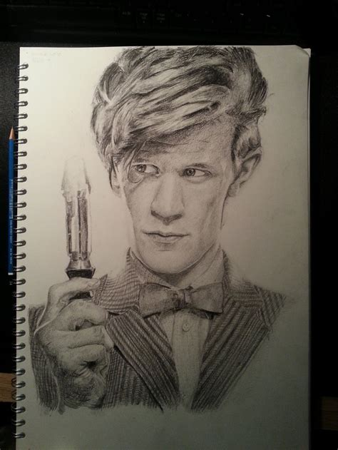 how to draw matt smith doctor who matt smith as the doctor by oldhairyone on deviantart