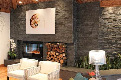 modern stacked stone fireplace fireplace designs