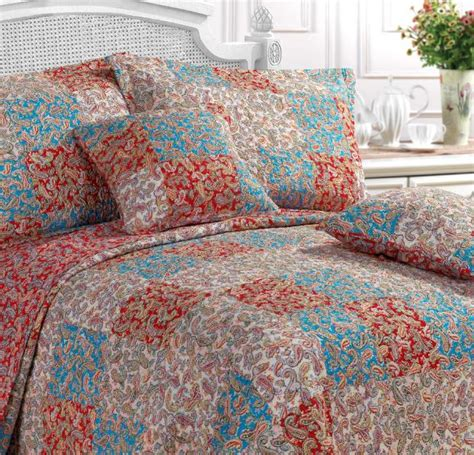 Paisley Patchwork Quilt - paisley bedspread king www perfectlyboxed