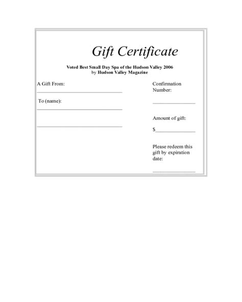gift card templates for pages 28 page gift certificate template 28 page gift