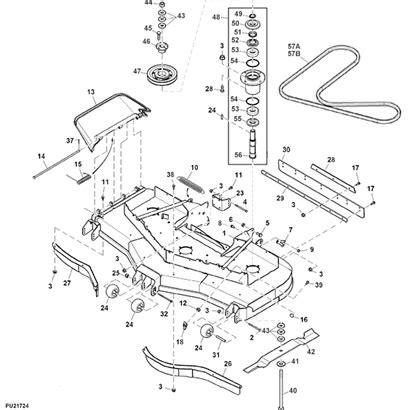 deere deck parts diagram deere 661r quik trak mower parts