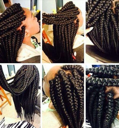 bix braiding parting 1000 ideas about thick box braids on pinterest box