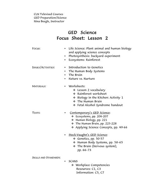 Ged Reading Practice Test Free Printable