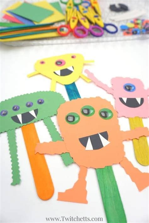 simple construction paper monster craft