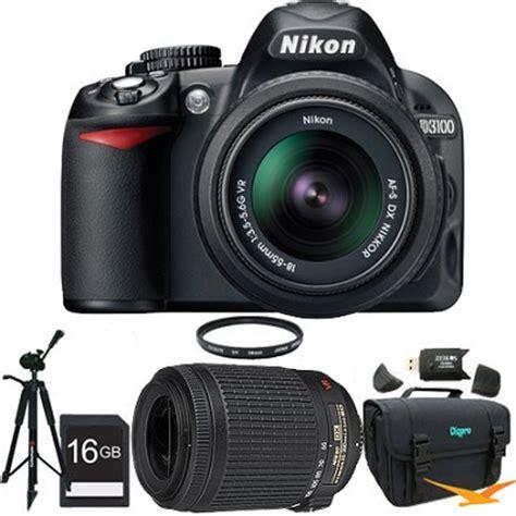 Nikon D3100 Lensa Kit 18 55mm buydig nikon d3100 digital slr kit w 18 55mm and 55