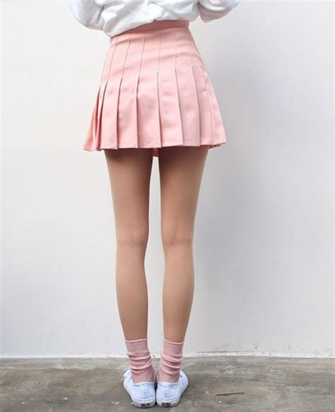 light pink pleated skirt skirt pink light pink pastel short love tennis skirt