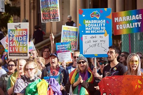 National Marriage Records Sydney S Marriage Equality Rally Breaks National Records