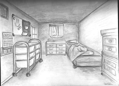 one point perspective bedroom drawings perspective drawing exles nata helper