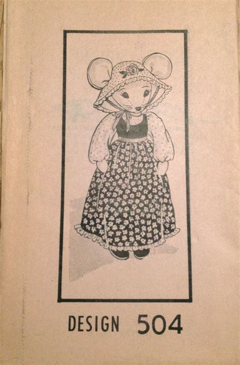 vintage mouse pattern 1980s mail order 504 18 inch country mouse doll and