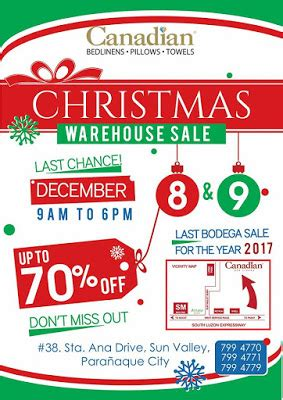 manila shopper canadian christmas warehouse sale dec 2017