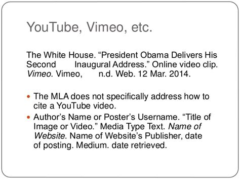 apa style format youtube video mla referencing