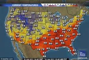 weather maps america wichita s midnight heat burst as temperature rises