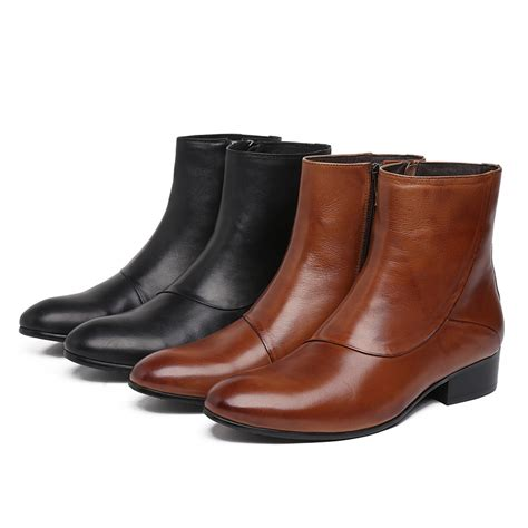 best rated motorcycle boots aliexpress com buy quality black brown zipper mens