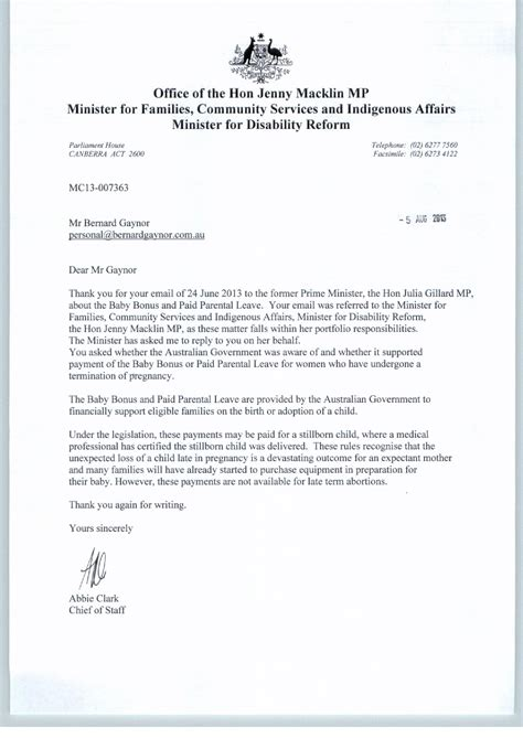 Proof Of Maternity Leave Letter blood and money australian style bernard gaynor