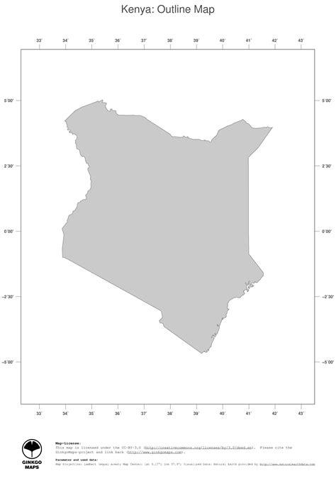 map kenya ginkgomaps continent africa region kenya