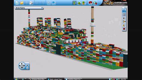 video tutorial lego digital designer lego titanic in lego digital designer youtube