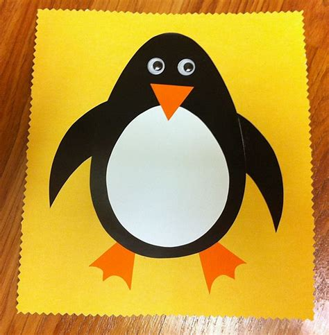 Paper Penguin Craft - penguin craft library animals