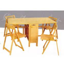 Folding Table With Chair Storage Dinette Sets 5 Pcs Folding Table And Chairs 901 Lnfs110 Elitedecore