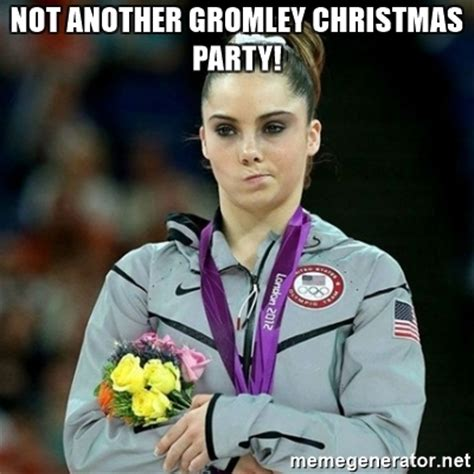 Mckayla Is Not Impressed Meme - not another gromley christmas party mckayla maroney not