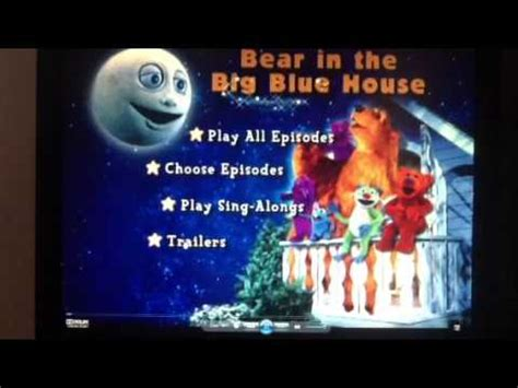 bear inthe big blue house dvd bear in the big blue house dvd menu walkthrough youtube