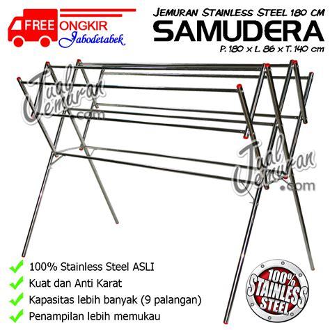 Stainless Steel Rak Jemuran Handuk Dan Baju Serbaguna Knock jemuran baju rak handuk rak sepatu tangga aluminium
