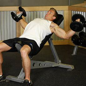 slight decline bench press incline dumbbell flyes exercise videos guides
