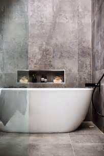 cement tile bathroom concrete effect bathroom tiles norse white design blog