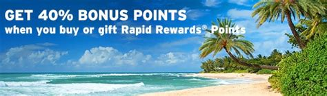 Can I Buy Southwest Gift Cards With Points - get 40 bonus points with southwest buy or gift points options points miles martinis