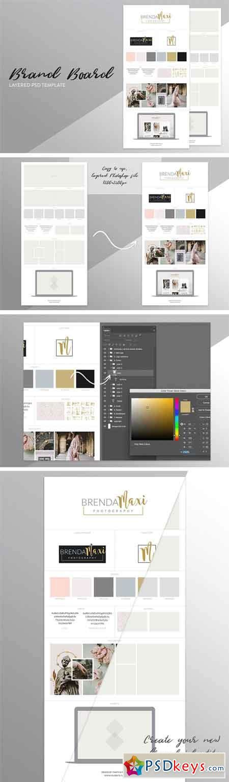 brand board template 1682631 187 free download photoshop