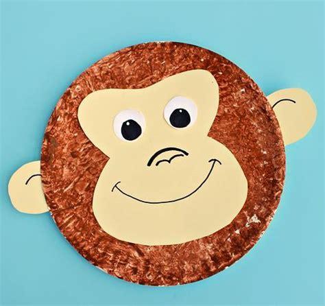 animal craft for monkey paper plate craft allfreekidscrafts