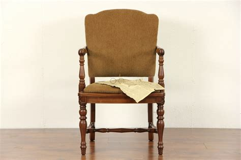 Lawyer Chair by Sold Lawyer 1915 Antique Walnut Chair W Arms New