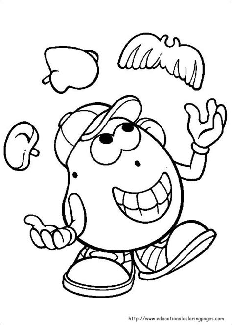 Mr Potato Head Coloring Page Mr Potato Head Party Mrs Potato Coloring Pages