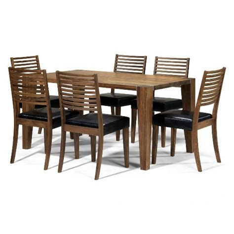home 6 seater dining set opus solid walnut 6 seater dining set 5459 furniture in