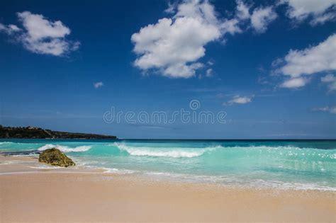 beautiful  empty dreamland beach baliindonesia stock