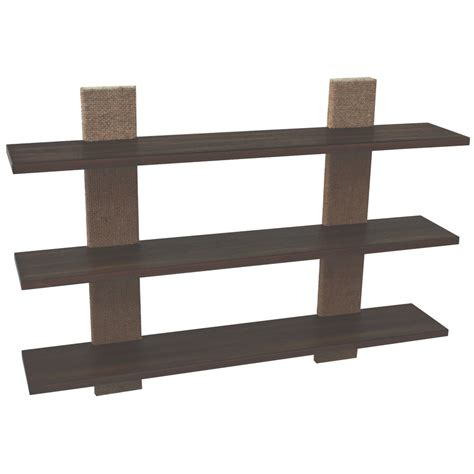Wood Wall With Shelves Shop Style Selections 36 In Wood Wall Mounted Shelving At