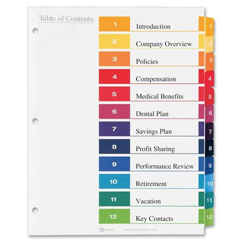 avery index tabs template avery ready index template shatterlion info