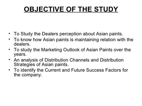 Asian Distribution Mba Program by Ppt Asian Paints