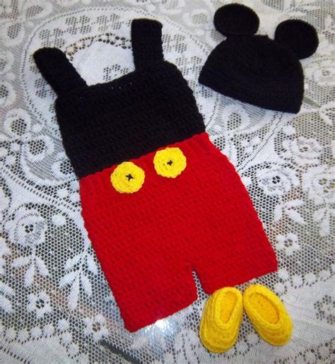 pattern crochet mickey mouse crocheted pattern for baby mickey mouse outfit joy