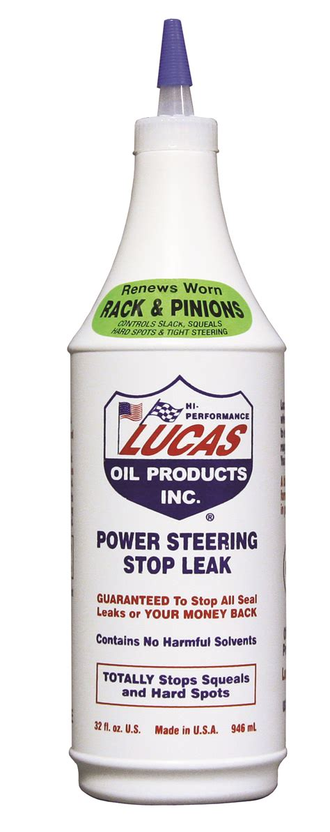 Lucas Engine Stop Leak Quart lucas 10011 power steering stop leak 1 qt bottle autoplicity